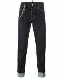 Dsquared2 - Cool Guy Chain Trim Jeans - Men - Cotton/polyester - 46 afbeelding