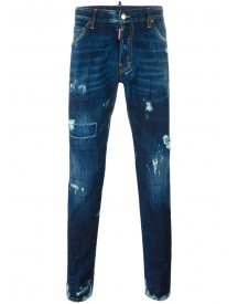 Dsquared2 - Cool Guy Lightly Distressed Jeans - Men - Cotton/calf Leather/polyester/spandex/elastane - 48 afbeelding