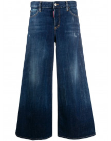 Dsquared2 Cropped Flared Jeans - Blauw afbeelding
