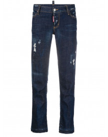 Dsquared2 Cropped Jeans - Blauw afbeelding