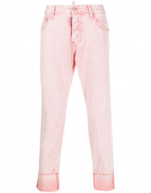 Dsquared2 Cropped Jeans - Roze afbeelding