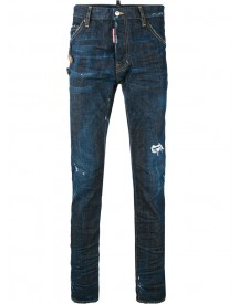 Dsquared2 - Denim Pin Brooch Jeans - Men - Cotton/spandex/elastane - 42 afbeelding