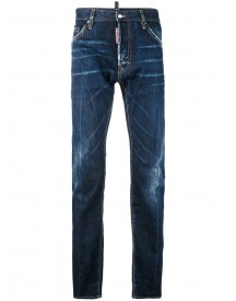 Dsquared2 - Denim Straight Jeans - Men - Cotton/leather - 50 afbeelding