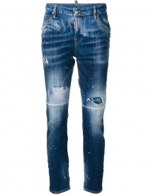 Dsquared2 - Distressed Cool Girl Jeans - Women - Cotton/spandex/elastane - 44 afbeelding