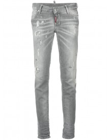 Dsquared2 - Distressed Jennifer Jeans - Women - Cotton/goat Skin/polyester/spandex/elastane - 40 afbeelding