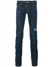 Dsquared2 - Distressed Long Clement Jeans - Men - Cotton/polyester/spandex/elastane - 46 afbeelding