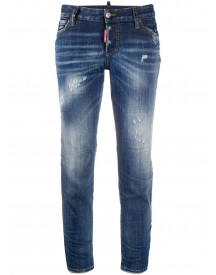 Dsquared2 Distressed Low-rise Jeans - Blauw afbeelding