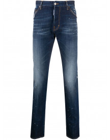 Dsquared2 Distressed Mid-rise Skinny Jeans - Blauw afbeelding