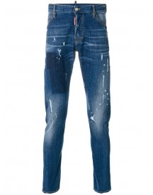Dsquared2 - Distressed Sexy Twist Jeans - Men - Cotton/leather/polyester/spandex/elastane - 56 afbeelding