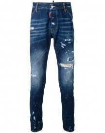 Dsquared2 - Distressed Skinny Jeans - Men - Cotton - 50 afbeelding