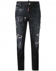 Dsquared2 - Distressed Skinny Jeans - Women - Cotton/lamb Skin/elastodiene/polyester - 38 afbeelding