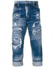 Dsquared2 - Distressed Slack Fit Jeans - Men - Cotton/polyester - 46 afbeelding