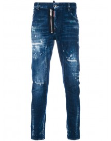 Dsquared2 - Distressed Tidy Biker Jeans - Men - Cotton/spandex/elastane - 54 afbeelding