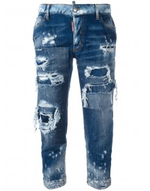 Dsquared2 - Glam Head Distressed Jeans - Women - Cotton/spandex/elastane - 42 afbeelding