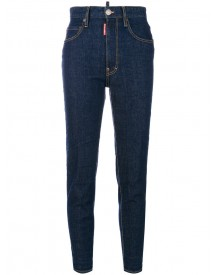 Dsquared2 - High Waisted Twiggy Jeans - Women - Cotton/calf Leather/polyester/spandex/elastane - 36 afbeelding