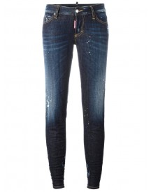 Dsquared2 - Jennifer Light Splatter Jeans - Women - Cotton/spandex/elastane - 42 afbeelding