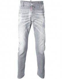 Dsquared2 - Kenny Twist Jeans - Men - Cotton/calf Leather/polyester/spandex/elastane - 44 afbeelding