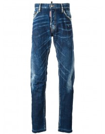 Dsquared2 - Mac Daddy Whisker Effect Jeans - Men - Cotton/spandex/elastane - 54 afbeelding