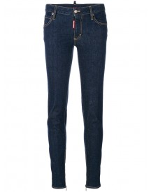 Dsquared2 - Medium-waisted Twiggy Jeans - Women - Cotton/spandex/elastane - 36 afbeelding