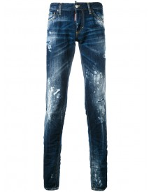 Dsquared2 - Paint Splatter Jeans - Men - Cotton/polyester/calf Leather - 50 afbeelding