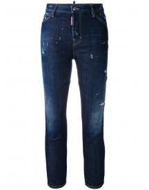 Dsquared2 - Paint Splatter Londean Jeans - Women - Cotton/spandex/elastane/polyester/wool - 40 afbeelding