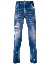 Dsquared2 Skater Distressed Jeans - Blauw afbeelding