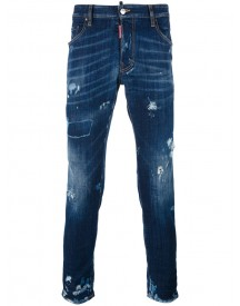 Dsquared2 - Skater Distressed Whisker Jeans - Men - Cotton/polyester/spandex/elastane - 50 afbeelding