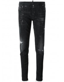 Dsquared2 - Skinny Microstudded Jeans - Women - Cotton/calf Leather/polyester/aluminium - 38 afbeelding