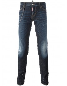 Dsquared2 - 'slim' Chain Trim Jeans - Men - Cotton/spandex/elastane - 52 afbeelding