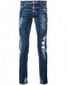 Dsquared2 - Slim Fit Jeans - Men - Cotton/leather/polyester/spandex/elastane - 52 afbeelding