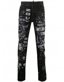 Dsquared2 Slim-fit Jeans - Zwart afbeelding