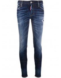 Dsquared2 Stonewashed Skinny Jeans - Blauw afbeelding