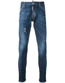 Dsquared2 - Tapered Jeans - Men - Cotton/calf Leather/polyester/spandex/elastane - 50 afbeelding