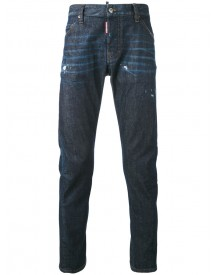 Dsquared2 - Tapered Jeans - Men - Cotton/calf Leather/polyester/spandex/elastane - 56 afbeelding