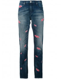 Each X Other Other - Lips Print Boyfriend Jeans - Women - Cotton/spandex/elastane - 27 afbeelding