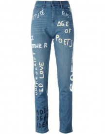 Each X Other Other - 'painted' Straight Leg Jeans - Women - Cotton/spandex/elastane - 26 afbeelding
