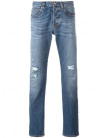 Eleventy - Ripped Straight Jeans - Men - Cotton/spandex/elastane - 36 afbeelding