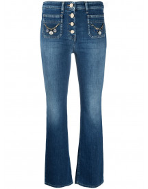 Elisabetta Franchi Cropped Jeans - Blauw afbeelding