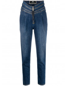 Elisabetta Franchi High-waisted Jeans - Blauw afbeelding