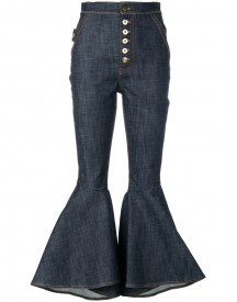 Ellery - Flared High-waisted Jeans - Women - Cotton/spandex/elastane - 27 afbeelding