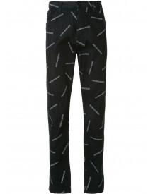 Emporio Armani Jeans Met All-over Logoprint - Blauw afbeelding