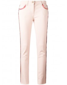 Etro - Lateral Strap Cropped Jeans - Women - Cotton/spandex/elastane - 28 afbeelding