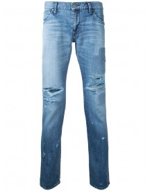 Factotum - Patched Rip Jeans - Men - Cotton - 32 afbeelding