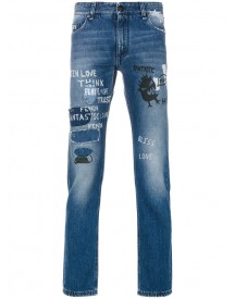 Fendi - Distressed Skinny Jeans - Men - Cotton - 31 afbeelding