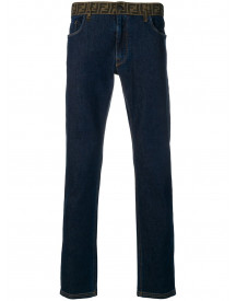 Fendi Jeans Met Ff Tailleband - Blauw afbeelding