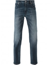 Fendi - Slim Bag Bug Jeans - Men - Cotton/calf Leather/spandex/elastane - 31 afbeelding