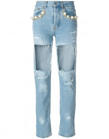 Forte Couture - Big Heroes Destroyed Jeans - Women - Cotton - 24 afbeelding