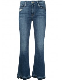 Frame Denim - Cropped Flared Jeans - Women - Cotton/polyester/spandex/elastane - 25 afbeelding