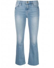 Frame Denim - Cropped Flared Jeans - Women - Cotton/polyester/spandex/elastane/tencel - 25 afbeelding