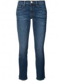 Frame Denim - Cropped Jeans With Slits - Women - Cotton/polyester/spandex/elastane - 26 afbeelding